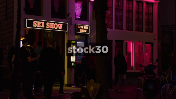 Live Sex Show Signage At Theatre Casa Rosso In Amsterdam, Netherlands