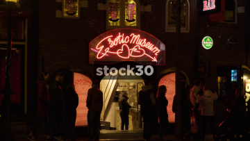 Erotic Museum In The Red Light District, Amsterdam, Netherlands