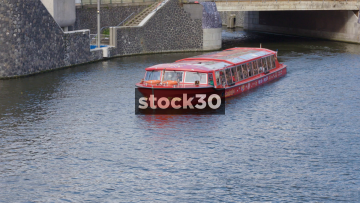 PC Hooft Cruise Boat On Amstel River In Amsterdam, Netherlands