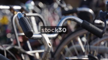 Bicycles In Rack Near Amsterdam Centraal Station, Netherlands