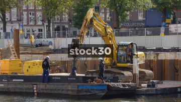 Construction Work Taking Place In Amsterdam, Netherlands