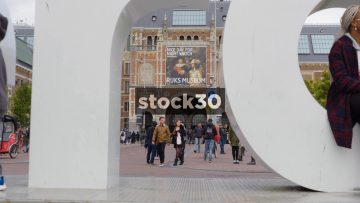 View Of The Rijlksmuseum Through The I Amsterdam Sign, Netherlands
