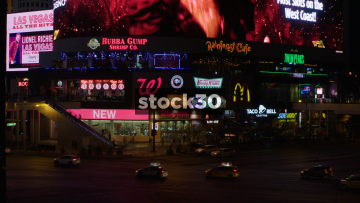 LED Signage On Las Vegas Boulevard, USA