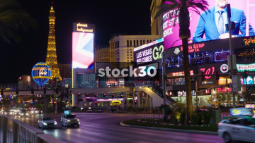 Las Vegas Boulevard Including Planet Hollywood, Paris Balloon And Eiffel Tower, USA