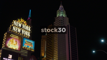 Wide Shot Of New York New York Hotel And Casino In Las Vegas, USA