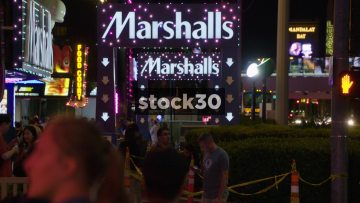 Entrance To Marshalls Shopping Centre In Las Vegas, USA