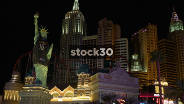 New York New York Hotel In Las Vegas Including Statue Of Liberty Replica, USA