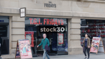 T.G.I Friday's On Cross Street In Manchester, UK