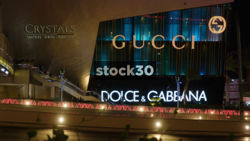 Gucci And Dolce & Gabbana At Crystals Shopping Centre In Las Vegas, USA