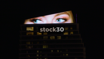 LCD Screen On Top Of The Cosmopolitan Hotel And Casino In Las Vegas, USA