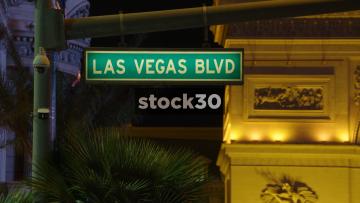 Las Vegas Boulevard Street Signs, USA