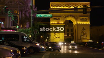 Replica Of The Arc De Triomphe In Las Vegas, USA