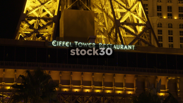 Eiffel Tower Restaurant, Hexx Kitchen & Bar And Alexxa's Bar In Las Vegas, USA