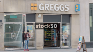 Greggs On Cross Street In Manchester, UK