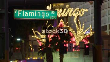 Flamingo Road In Las Vegas, USA