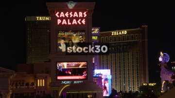 Billboard at Caesars Palace in Las Vegas, USA