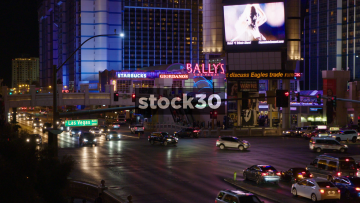 Busy Road Junction On Las Vegas Boulevard, USA