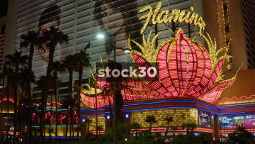 Flamingo Hotel Sign In Las Vegas, USA