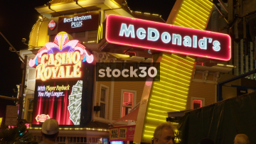 Best Western Casino Royale And McDonald's Restaurant In Las Vegas, USA