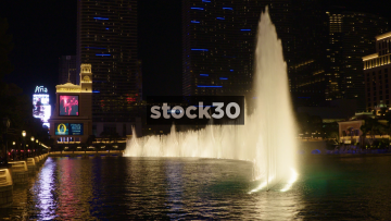 The Bellagio Hotel Fountain Display In Las Vegas, USA