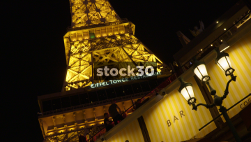 The Eiffel Tower Restaurant In Las Vegas, USA
