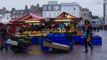 Fruit Market At Market Square In Northampton, UK