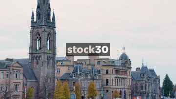 St Matthews Church Of Scotland And Other Buildings On Tay Street In Perth, Scotland, UK