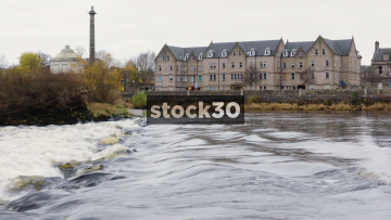 A View Across The River Tay In Perth, Scotland, UK