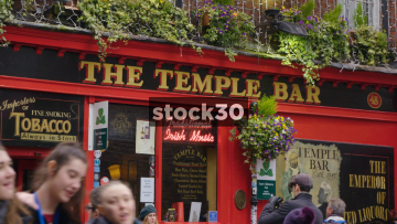 The Temple Bar Pub In Dublin - 3 Crash Zooms Into Signs, Ireland