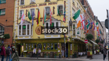 The Oliver St.John Gogarty Irish Pub In Temple Bar, Dublin, Ireland