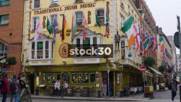 The Oliver St.John Gogarty Irish Pub In Temple Bar, Dublin, Ireland