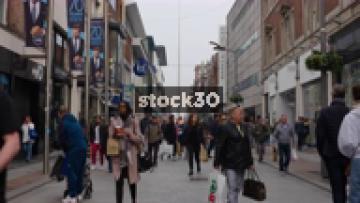 Shoppers On Henry Street In Dublin City Centre, Ireland