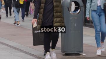 Various Branded Shopping Bags On Henry Street In Dublin, Ireland
