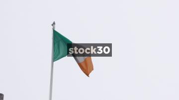 Slow Motion Shot Of Irish Flag, Ireland