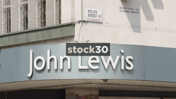John Lewis on Oxford Street and Holles Street London Slow Zoom Out