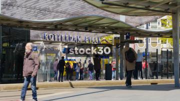 Rotterdam Blaak Station Entrance, Netherlands