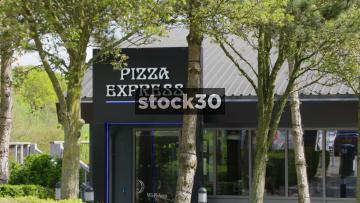 Pizza Express Restaurant At South Mimms Services, Three Shots, UK