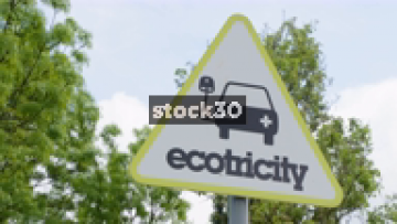 Ecotricity Electric Vehicle Charging Point, 3 Shots, UK