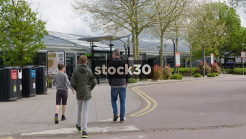 Wide Shot Of Welcome Break South Mimms Services, UK