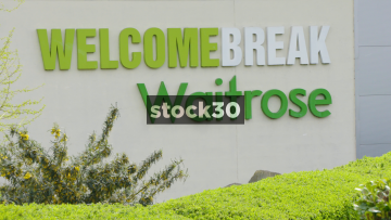 Welcome Break And Waitrose Signage At South Mimms Services, UK