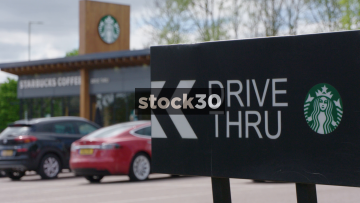 Starbucks Coffee Drive Thru At South Mimms Services, UK