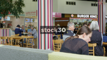 Motorway Services Food Area, 3 Shots, UK
