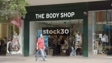 The Body Shop on Oxford Street in London, UK
