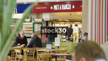 Pret A Manger, Subway And Starbucks At South Mimms Services, UK
