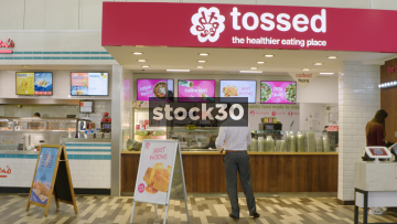 Tossed Healthy Food At South Mimms Services, UK