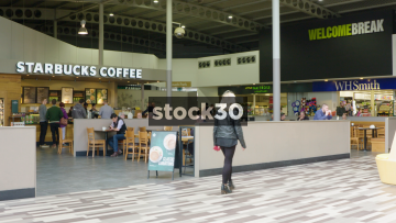 Starbucks Coffee At Welcome Break South Mimms Services, Wide Shot