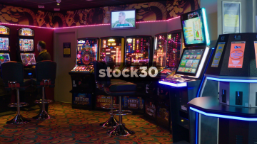 Amusement Arcade With Gambling Machines, UK