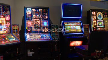 Slot Machines In Amusement Arcade, UK
