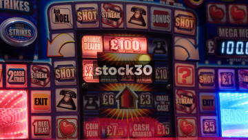 Close Up Shots Of Slot Machines In Amusement Arcade, UK