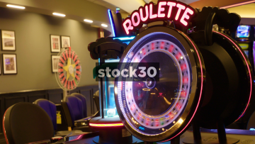 Roulette Machine Game In Casino